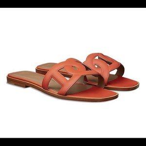 5d23dbc36878 Hermes Shoes - HERMÈS OMAHA CALFSKIN SANDALS BRAND NEW